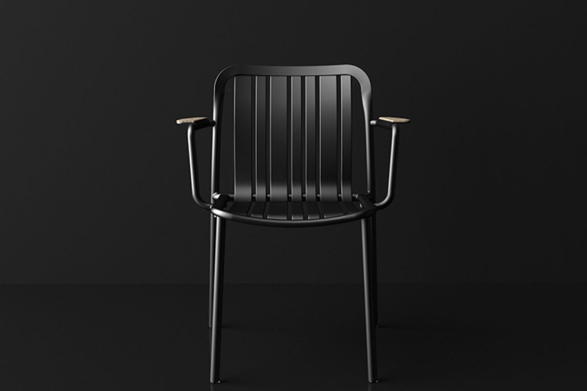 Parisian signs of the early twentieth century in Trocadero, the outdoor chair by Ramon Esteve for Talenti