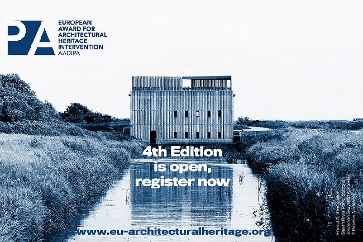 Now open the registration for the 4th European Award for Architectural Heritage Intervention AADIPA