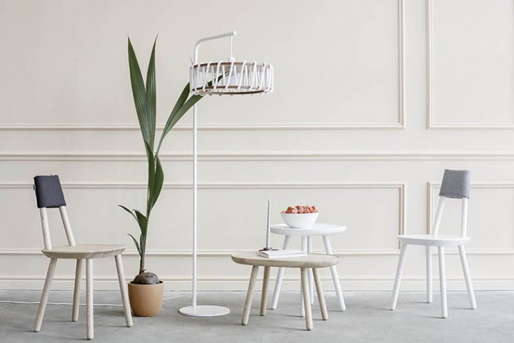 After two years, the Macaron lamp by Silvia Ceñal for Emko, grows and stands up