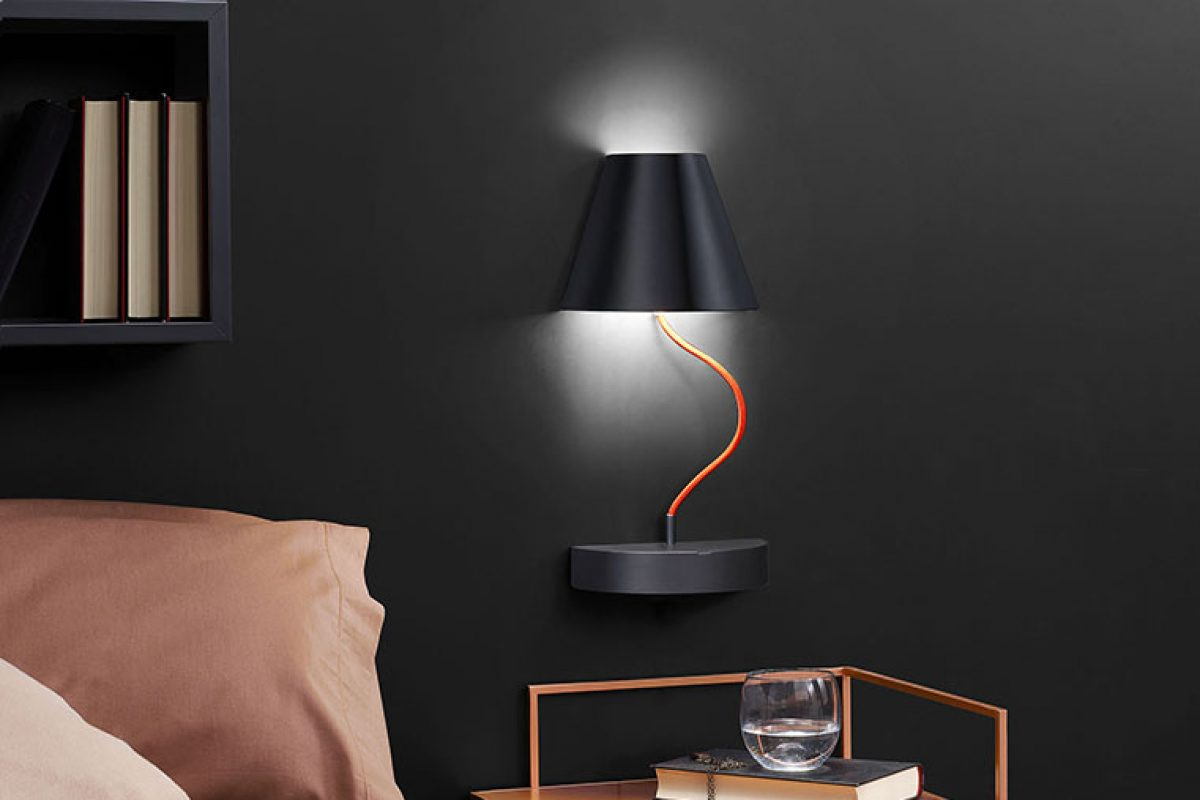 Lapilla by Debonademeo for Ronda Design. The portable magnetic wall lamp