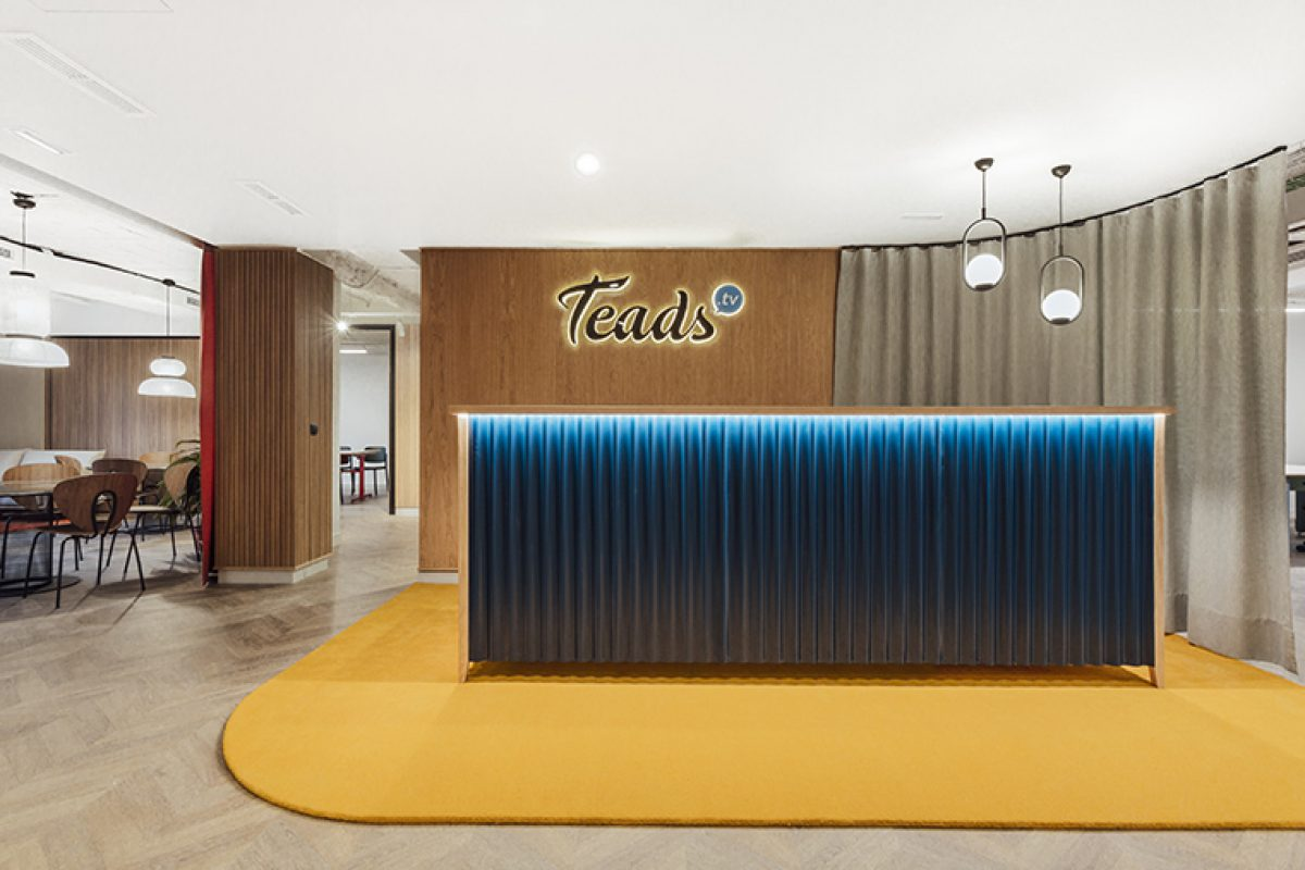 Stone Designs is inspired by the 50s golden age for the Teads.tv offices interior design project