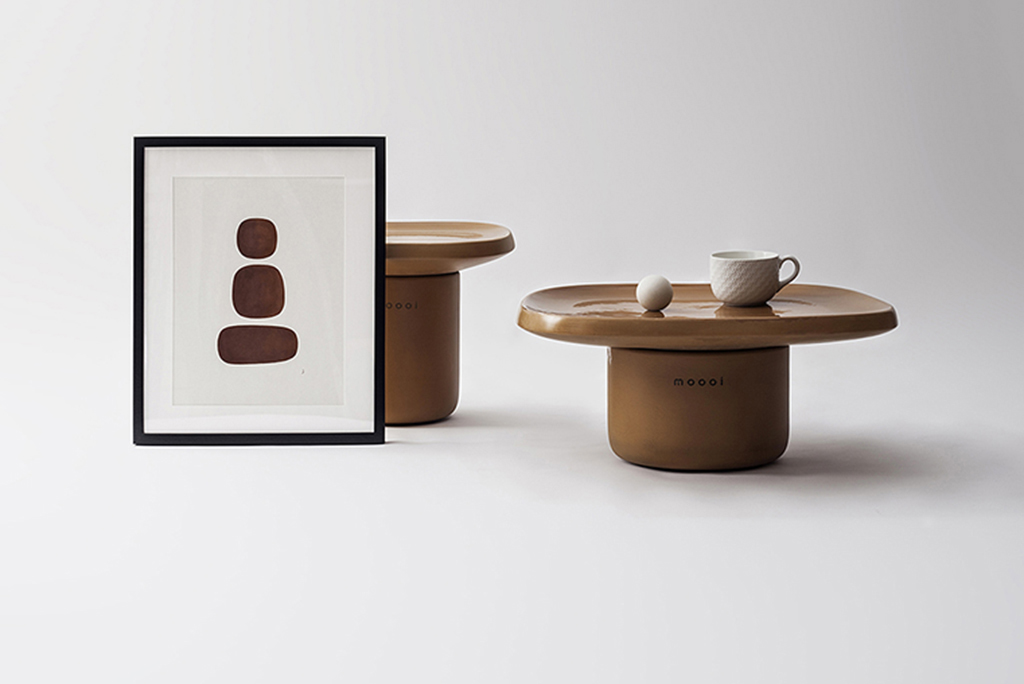 Obon, the terracotta tables collection designed by Simone Bonanni Studio for Moooi