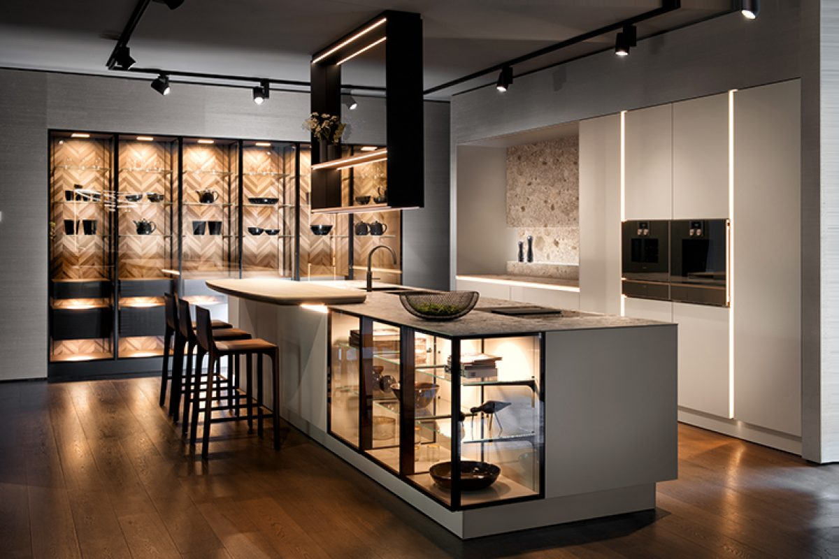 SieMatic handle-free kitchen, new intelligent concept for Purist kitchen design