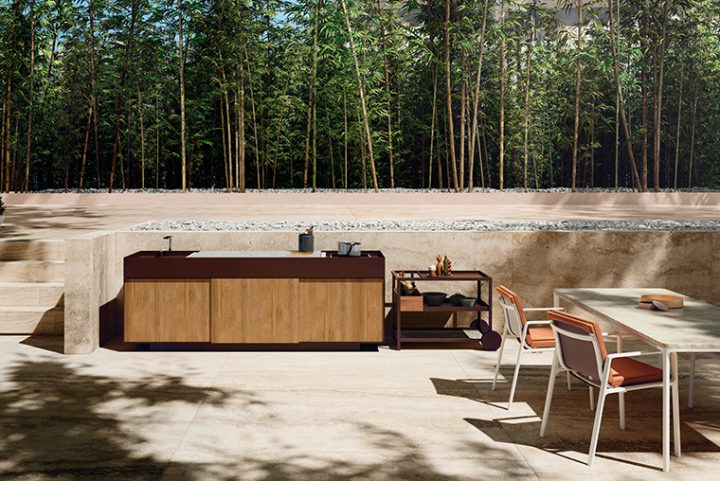 Kettal Outdoor Kitchen. Clean design, elegant and suitable for the inclemencies weather