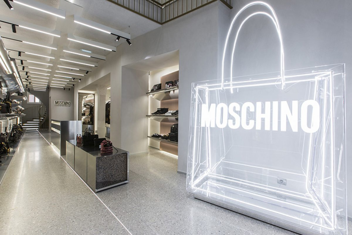 Fabio Ferrillo designs the new Moschino boutique in Paris, a store concept halfway between a retail space and art gallery