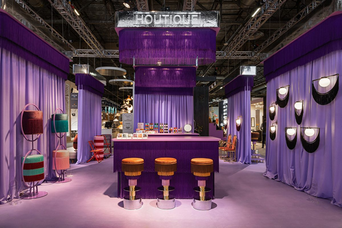 Delve into the Houtique's sexy, lux and fun world at Maison&Objet, designed by Masquespacio