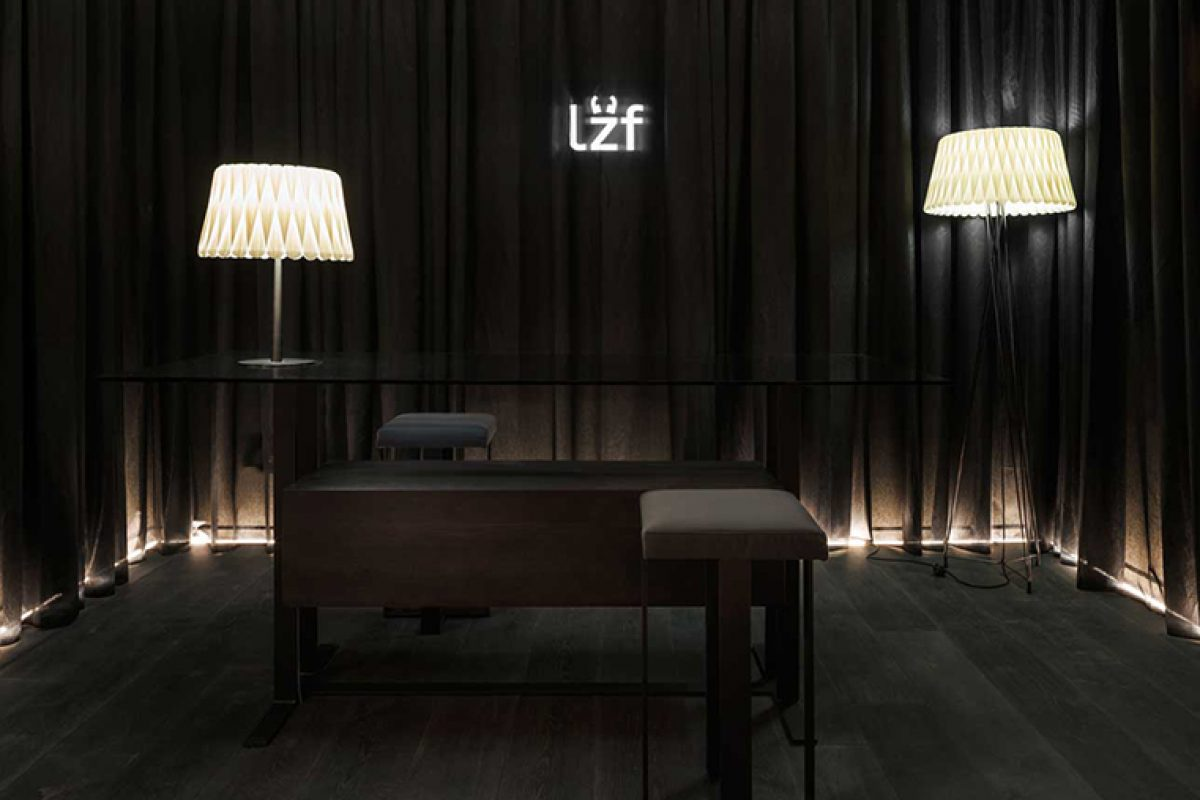 In purest «downtown contemporary» style. Ramón Esteve designs for LZF the space Black Note in Casa Decor