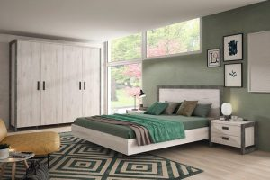 Details in concrete color highlight the new Heros bedrooms by Ramis