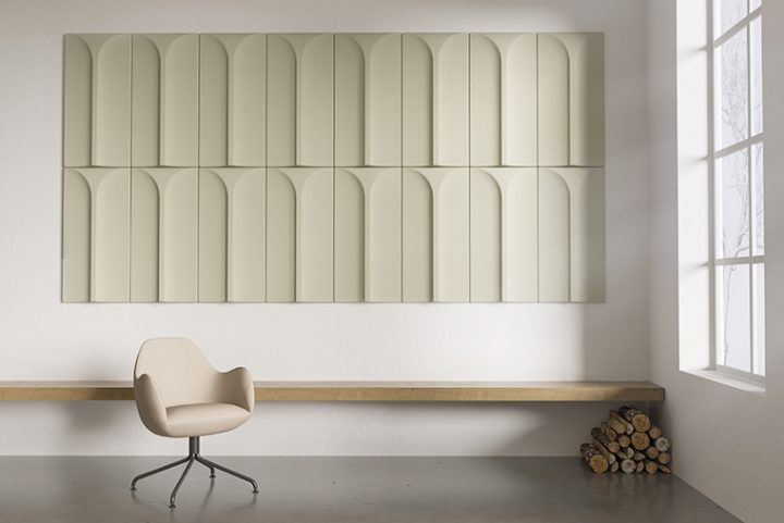 Arc, the new acoustic panel of Blå Station designed by Stone Designs