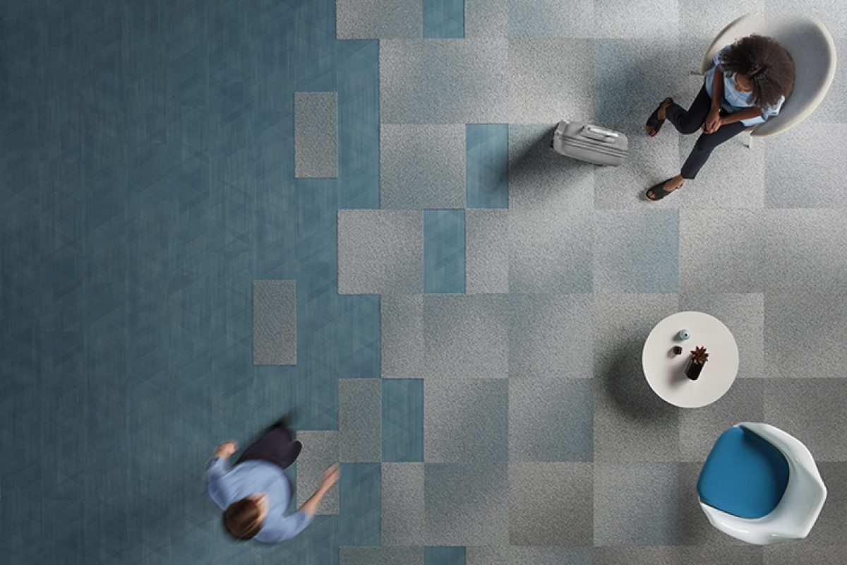 Visual Code and Drawn Lines, the new carpet tile and LVT collections by Interface
