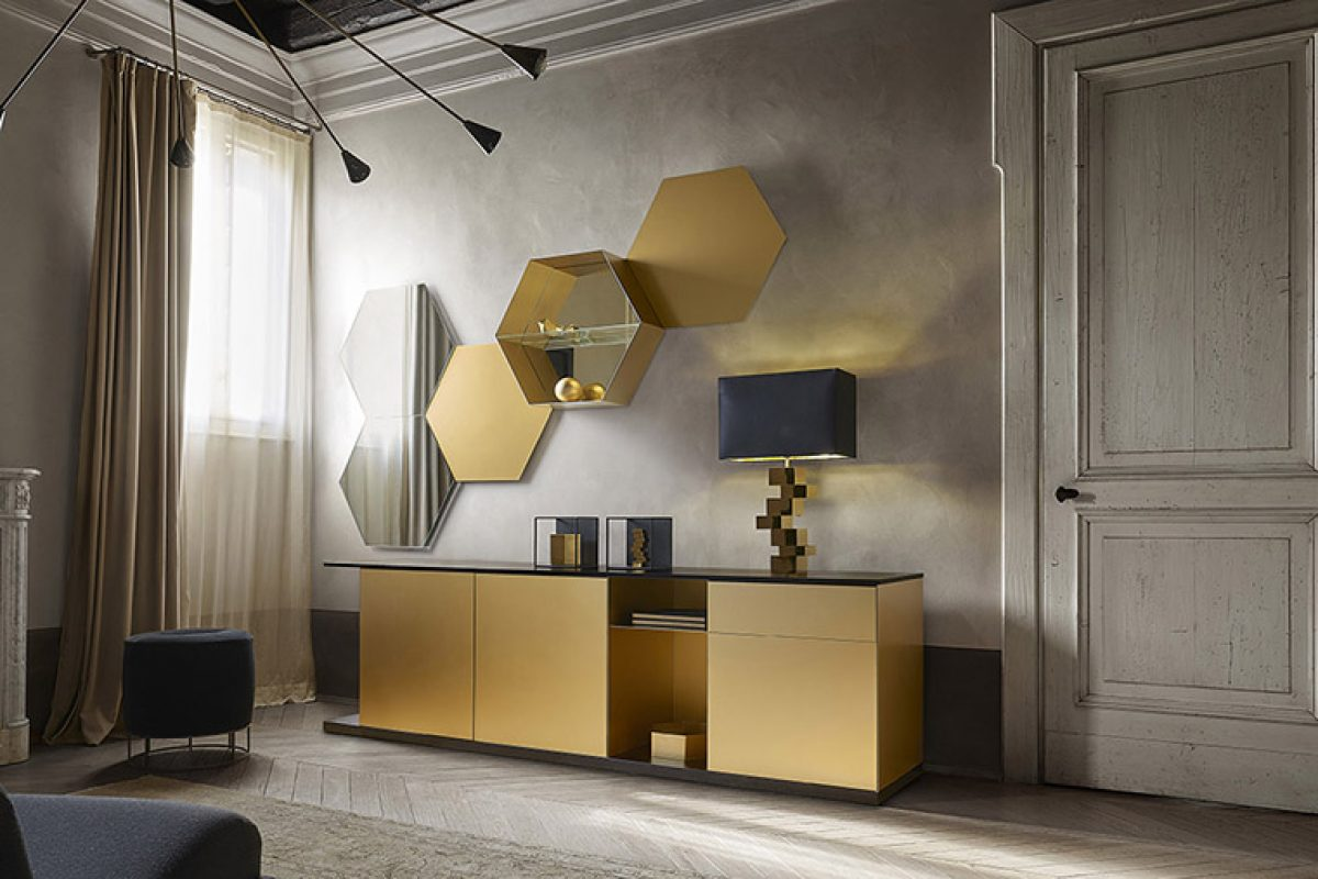 Emera by Studio 28 for Ronda Design. A mixture of styles in a functional and elegant sideboard