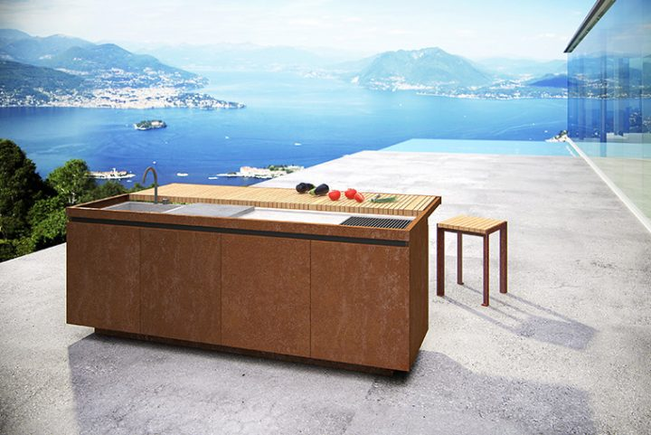 Taglia&Cuoci, the outdoor kitchen designed by Architect Aldo Peressa for Artena Design by Grassi Pietre