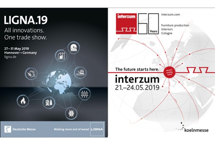 Ligna & Interzum collaborate in May 2019. 1 trip + 1 ticket = 2 shows
