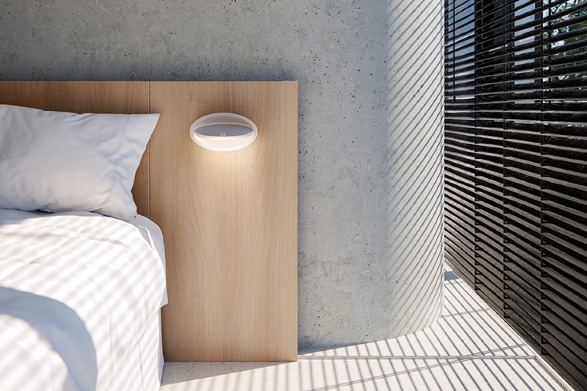 Ely wall light by Luca Turrini for Grok, a piece that hangs in space
