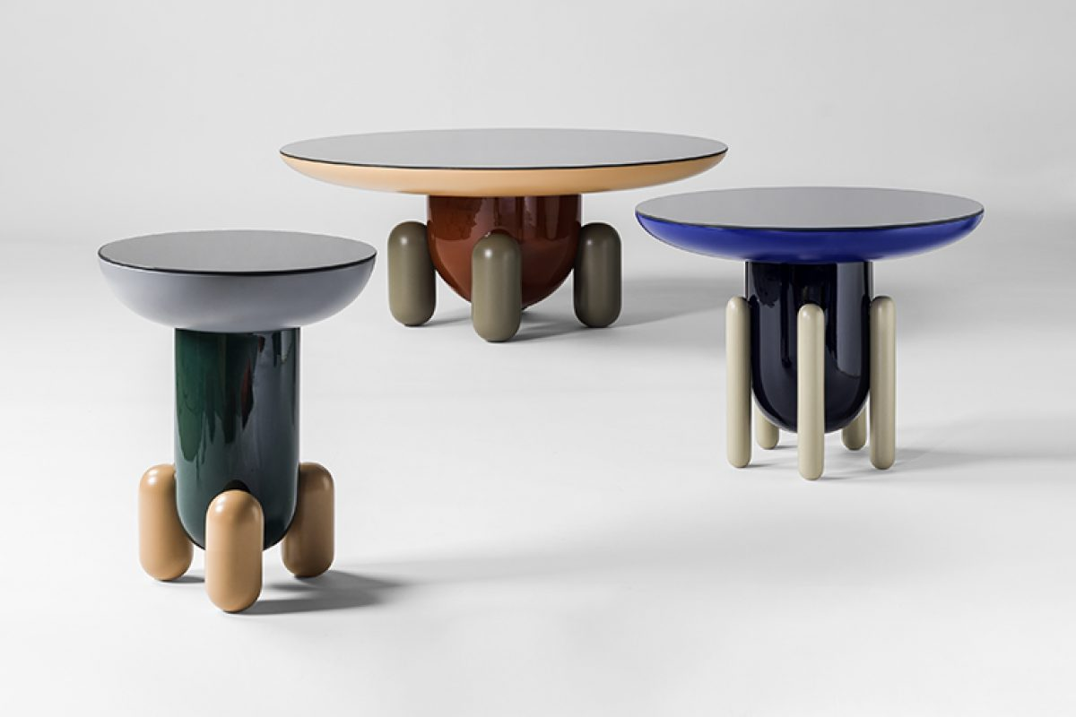 Explorer Collection, sculptural and blatantly decorative side tables designed by Jaime Hayón for BD