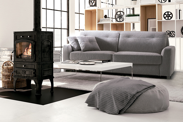 Pure lines design Oliver, the new high backrest sofa bed by Alessandro Elli for Milano Bedding