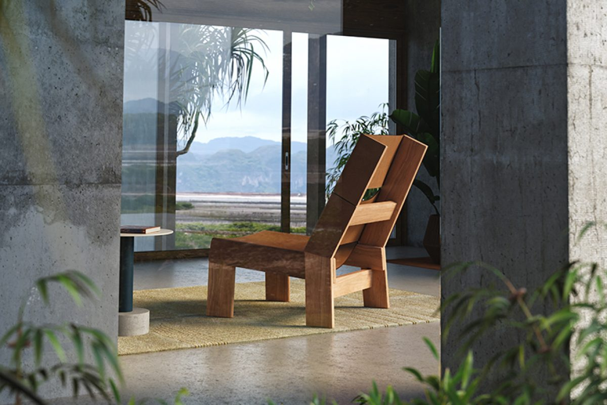 Made of teak wood or aluminum. Patricia Urquiola designed the Band outdoor collection for Kettal