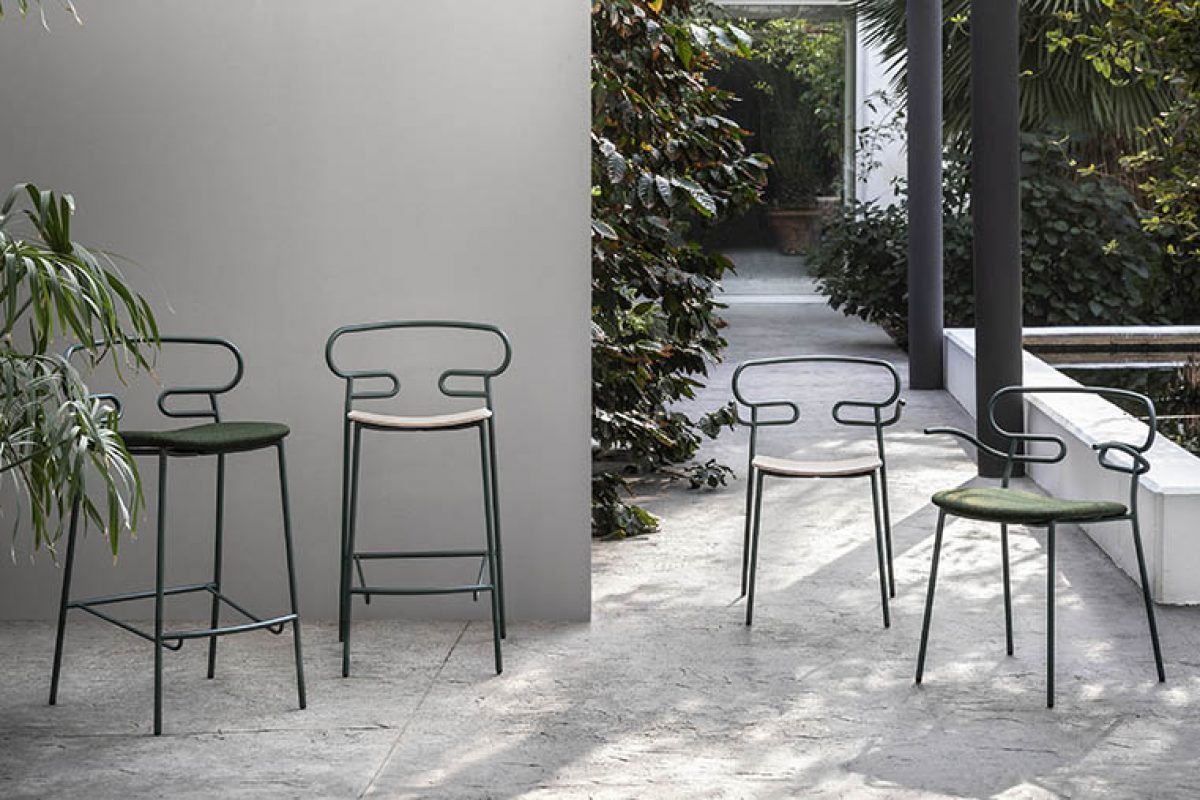 The aesthetic lightness of the Genoa collection by Trabà, now in an outdoor version