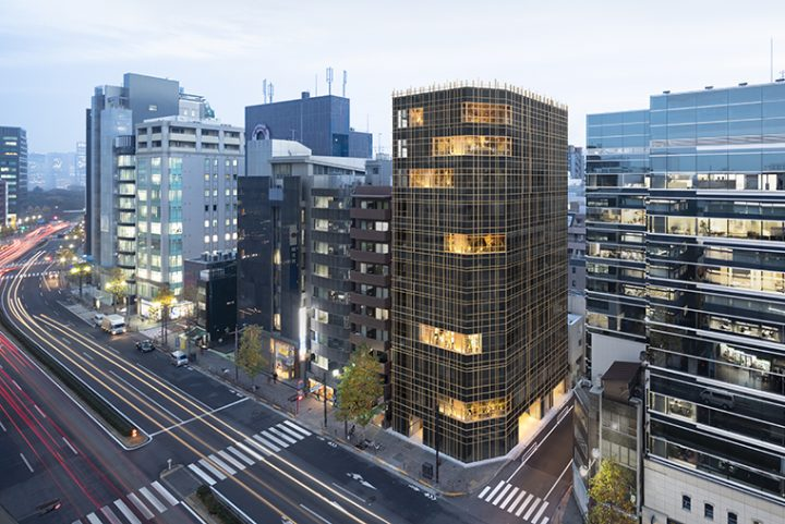 Kojimachi Terrace, the «woven» office building designed by nendo to enjoy the outdoors