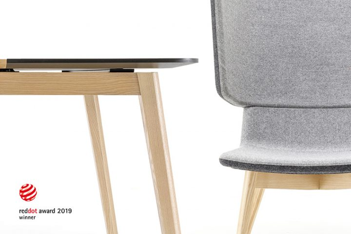 Two products for work spaces by Lithuanian company Narbutas, awarded with the Red Dot Design Award 2019