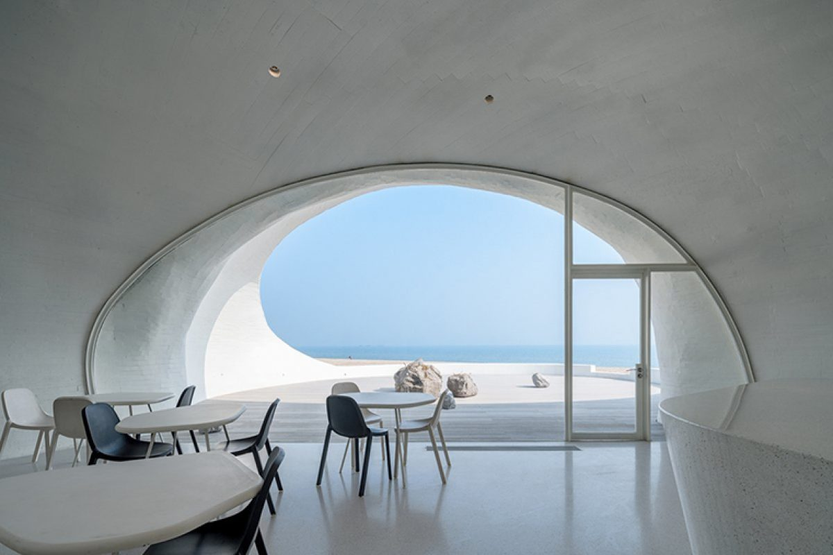 The UCCA Dune Art Museum by OPEN Architecture wins the 2019 AZ Awards for its unique relationship between interior and exterior