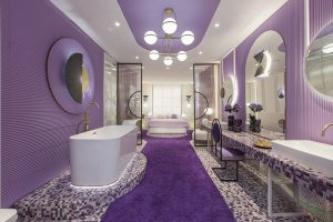 The «Violet Bliss» hotel suite concept designed by In Out Studio received the «Most Creative Space» award at Marbella Design 2019