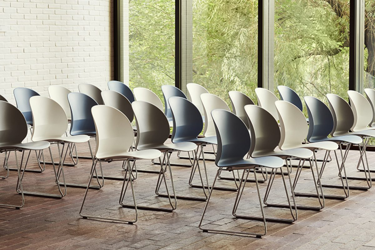 Fritz Hansen presents the N02™ Recycle chair, designed by nendo and made of 100% recycled polypropylene