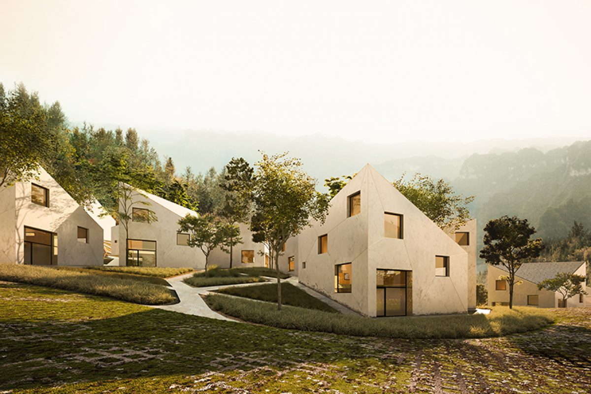 Dehan Village, the Mountain Resort designed by AQSO Architects Office in Jishou, China