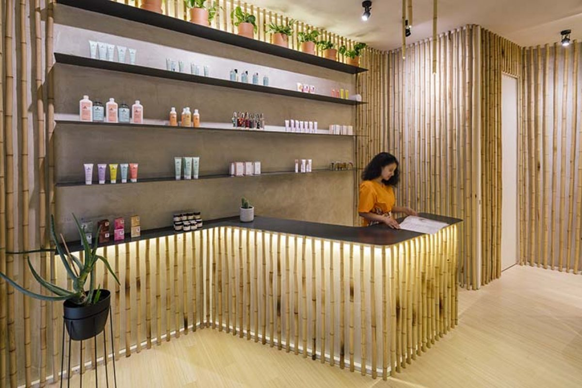 Bamboo becomes the protagonist in Nuilea Madrid Day Spa, designed by ZooCo Estudio