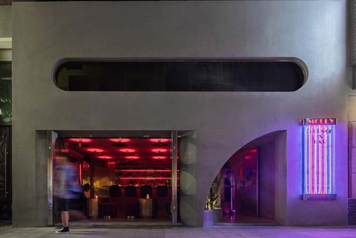 Molly Club by J.H Architecture, a Styled Bar in Wuhan Commercial Street, China