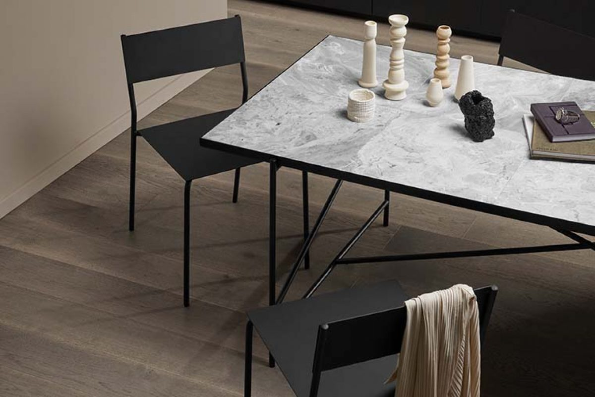 The new Handvärk dining table with marble top and a luxurious Nordic appeal