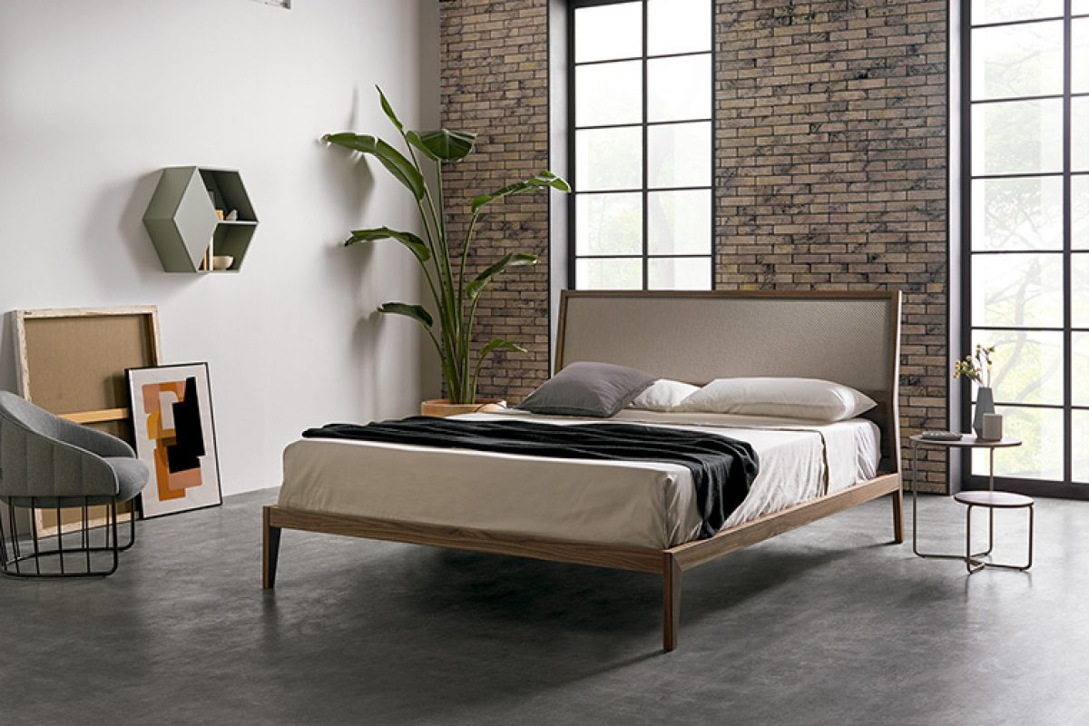 The Soul bed designed by Dsignio for Mobenia. Its pure precision transmits peace