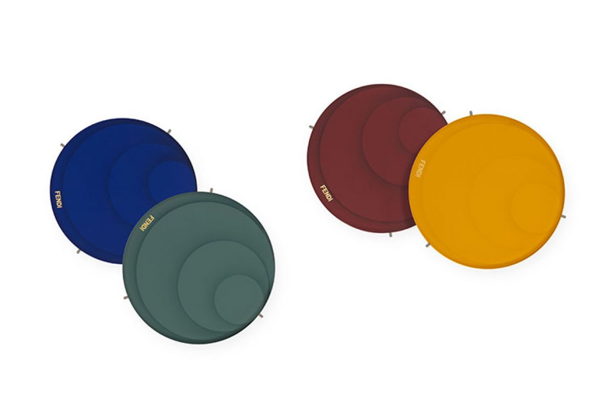 The eccentric colours of Ripple Drop, the new side tables by Fendi Casa
