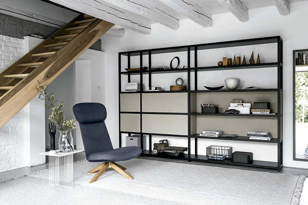 Frame Bookcase by Fantin. Rationality, minimalist looks and maximum scope for customization