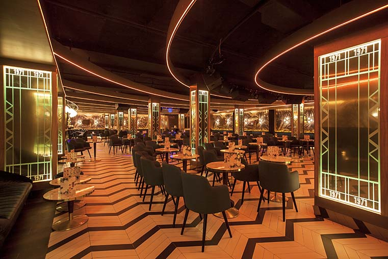 Oscar Vidal designed the Philippines 10 party room at Benidorm in the purest cabaret style of the 70s
