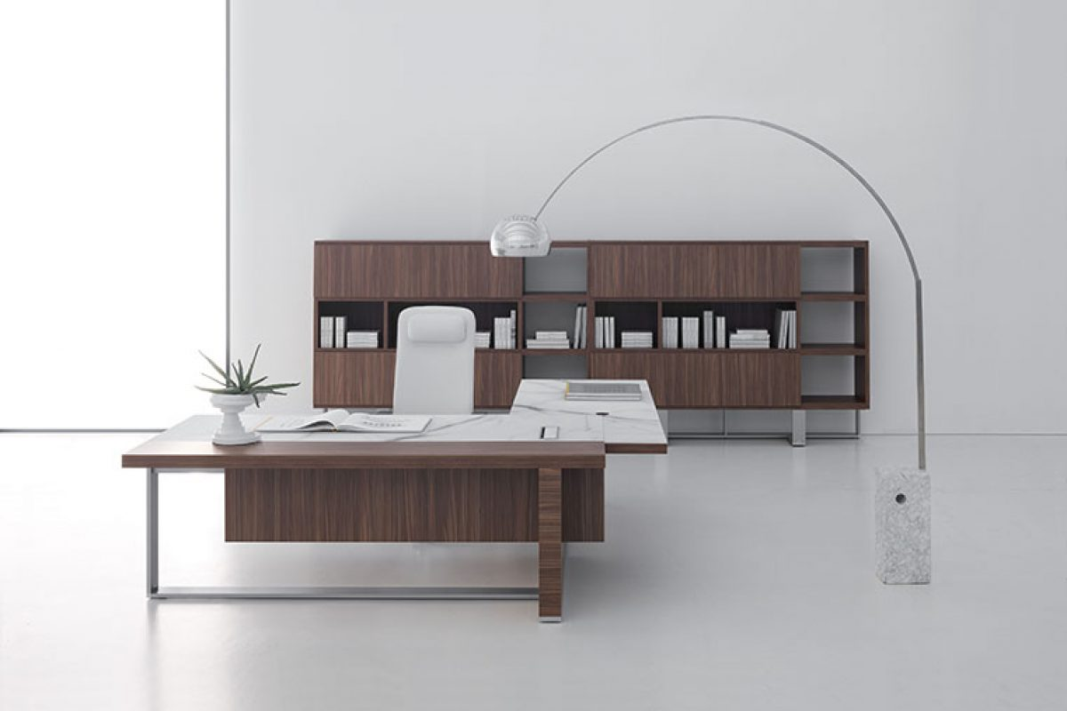 DV913-Vigo by Baldanzi & Novelli for DVO_, sculptural balance of volumes for executive furniture