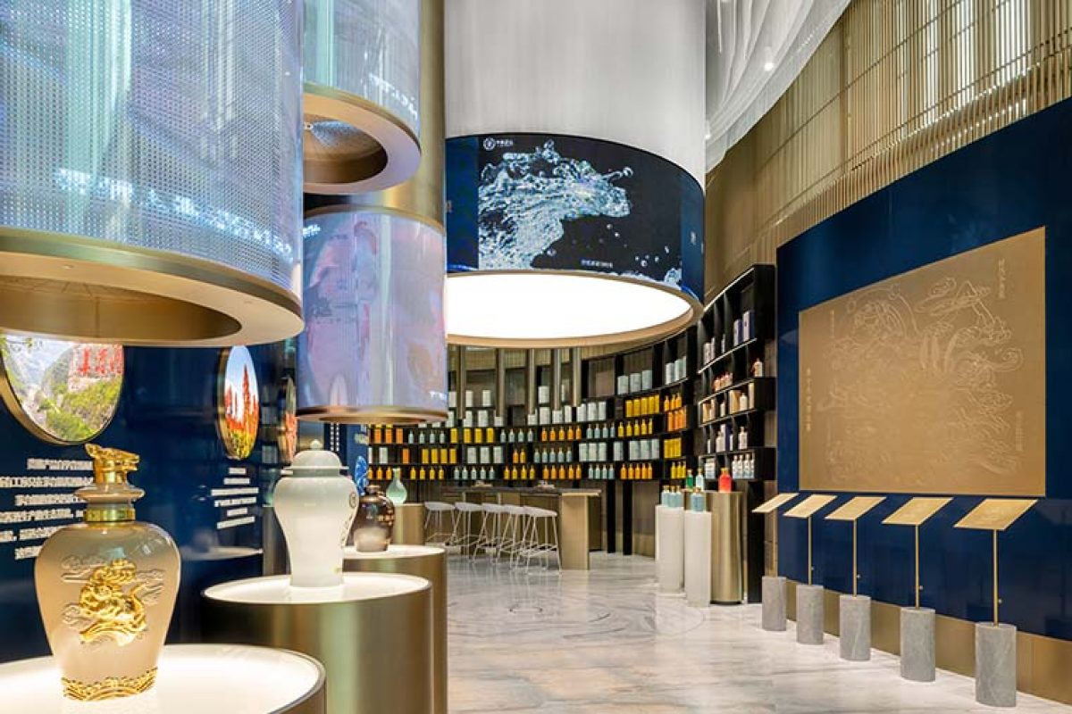 Ippolito Fleitz Group connects tradition and lifestyle in the Guiniang Experience Store Shanghai: to put a cult Chinese liquor on a par with international spirits brands