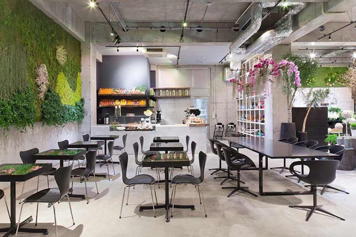 Minimalism and organic beauty converge at Nomu, Danish florist Nicolai Bergmann's Tokyo shop and café