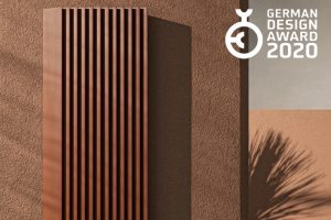 Step-by-Step radiator by Tubes, winner of a German Design Award 2020 for its surprising slat-like design