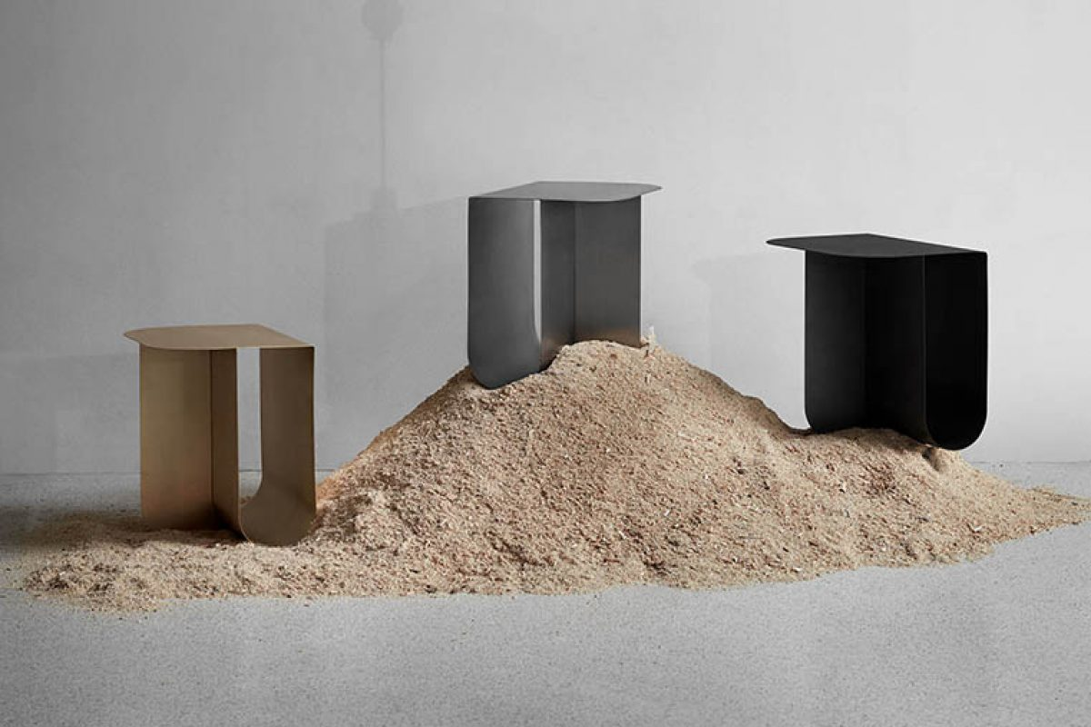 The sculptural silhouette of Mass, the new side table designed by Roee Magdassi for Northern