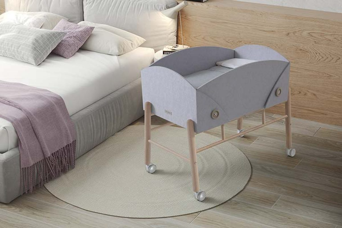 Cocoto, the sustainable mini-cradle designed by Ximo Roca that evolves with the baby