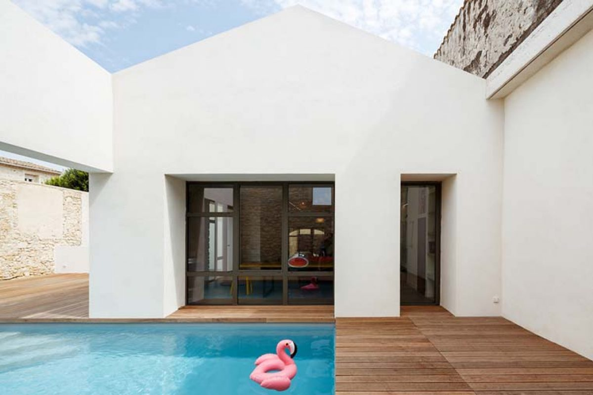 TRA House in the historic centre of Castries, France, by (ma!ca) architecture