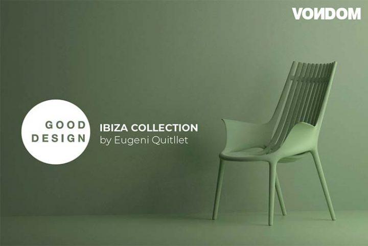 The sustainable Ibiza collection by Eugeni Quitllet for Vondom, is awarded at Green Good Design Award 2020