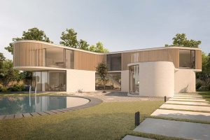 K House by AQSO, architecture with soft curves and fluid spaces