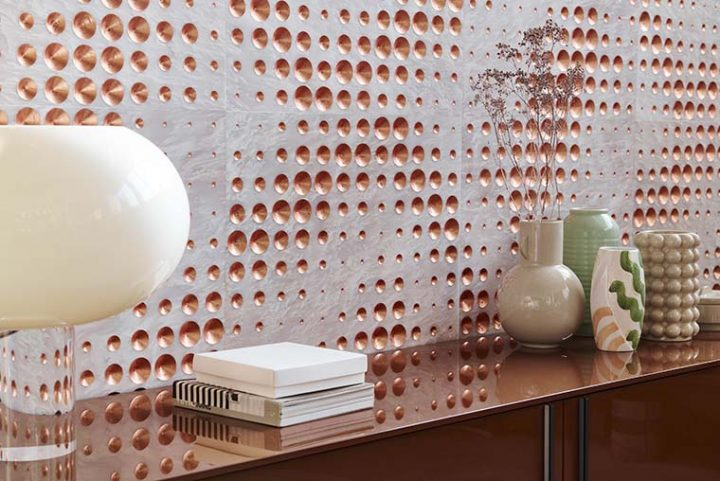 Luxury, the new covering of the Dissonanze collection by Lithos Design. Exclusive, unique and surprising