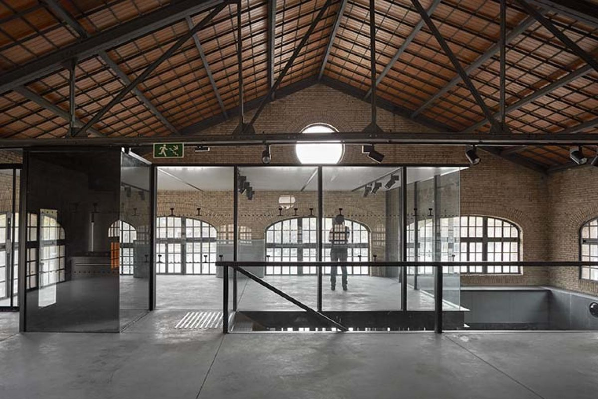 New Cultural Hall in a former locomotive shed in Valencia's Central Park (Spain), by Contell Martinez Arquitectos