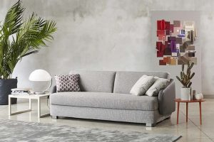 Vivien by Alessandro Elli for Milano Bedding. A sofa and sofa bed with a touch from the 50s and 60s