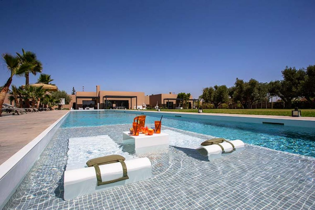 Les Olivades Marrakech, Stunning Holiday Villa in Morocco with HI-MACS® for a luxurious finish