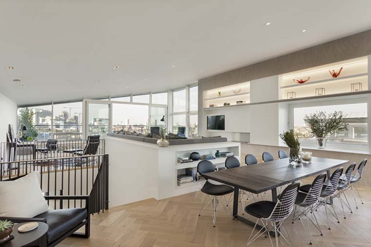 FORMstudio reinvents a Bermondsey Wall Penthouse, with HI-MACS® taking centre stage