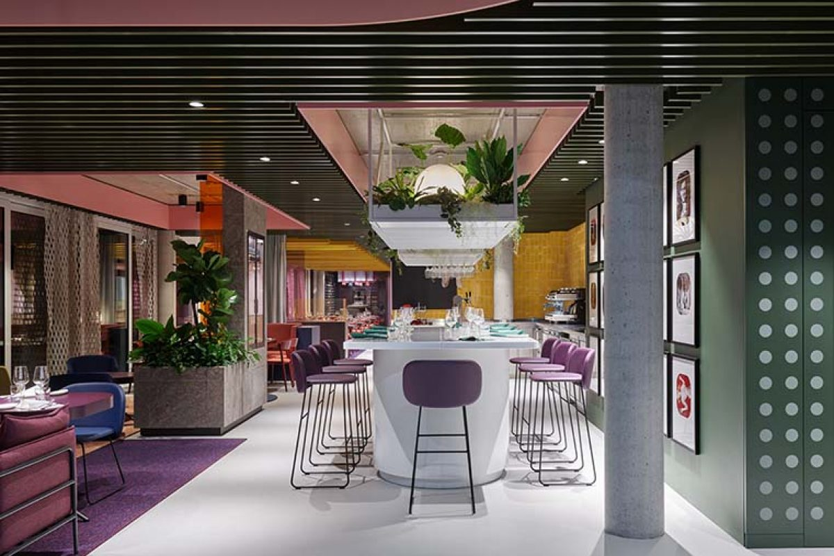 La Visione, the restaurant and co-working of Object Carpet designed by Ippolito Fleitz Group